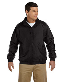 Harriton M740 Men Fleece Lined Nylon Jacket at bigntallapparel