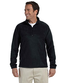 Harriton M980 Mens 8 Oz Quarter Zip Fleece Pullover at bigntallapparel