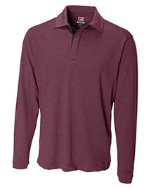 Cutter & Buck MCK00546 Men Cb Drytec Long Sleeve Benton Polo at bigntallapparel