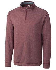 Cutter & Buck Mck00710 Men Cb Drytec Long Sleeve Topspin Half Zip