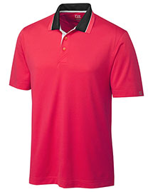 Cutter & Buck MCK00730 Men Cb Drytec Etched Polo at bigntallapparel
