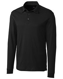 Cutter & Buck Mck00972 Men Long Sleeve Pima Belfair Polo
