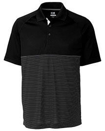 Cutter & Buck MCK09165 Men Junction Stripe Hybrid Polo