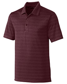Cutter & Buck Mck09263 Men Interbay Melange Stripe Polo