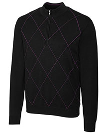 Cutter & Buck MCS01454 Men Duo Tone Argyle Half Zip