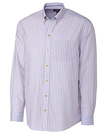 Cutter & Buck MCW00058 Men L/S Cypress Wrinkle Free Stripe