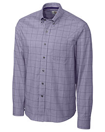 Cutter & Buck Mcw01843 Men Long Sleeve Completion Plaid