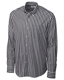 Cutter & Buck Mcw01845 Men Long Sleeve Sideline Stripe