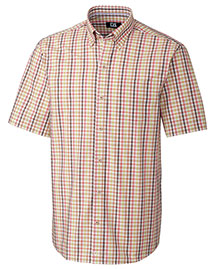 Cutter & Buck Mcw09420 Men S/S Mallow Check
