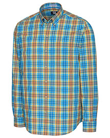 Cutter & Buck MCW09552  L/S Point Sur Plaid
