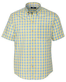 Cutter & Buck Mcw09555  S/S Wrinkle Free Luis Rey Check