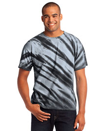Port & Company PC148 Men Essential Tiger Stripe Tie-Dye Tee