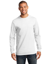 Port & Company PC61LS Mens 100% Cotton Essential Long Sleeve T Shirt at bigntallapparel