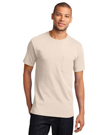 Port & Company PC61P Men's 100% Cotton T Shirt With Pocket
