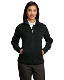 Red House RH55 Ladies Sweater Fleece Full-Zip Jacket at bigntallapparel