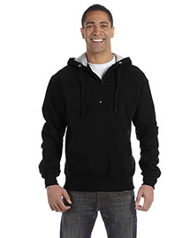 Champion S185 Men  9.7 Oz., 90/10 Cotton Max Quarter-Zip Hood