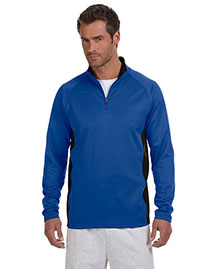 Champion S230 Men  5.4 Oz. Performance Colorblock Quarter-Zip Pullover
