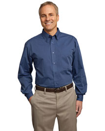 Port Authority TLS613 Men Tall Tonal Pattern Easy Care Shirt
