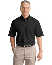 Port Authority Signature S633 Men Short Sleeve Value Poplin Shirt