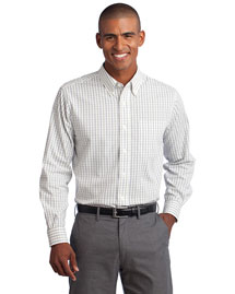 Port Authority Tls642 Men Tall Tattersall Easy Care Shirt