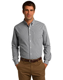 Port Authority S654 Men Long Sleeve Gingham Easy Care Shirt