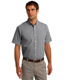 Port Authority S655 Men Short Sleeve Gingham Easy Care Shirt