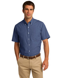 Port Authority S656 Men Short Sleeve Crosshatch Easy Care Shirt