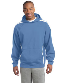 Sport-Tek ST265 Sleeve Stripe Pullover Hooded Sweatshirt at bigntallapparel