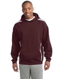 Sport-Tek Tst265 Men Tall Sleeve Stripe Pullover Hooded Sweatshirt