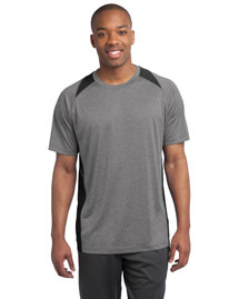 Sport-Tek ST361 Men Heather Colorblock Contender Tee