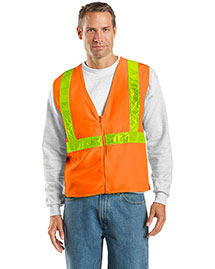 Port Authority SV01 Mens Safety Work Vest at bigntallapparel