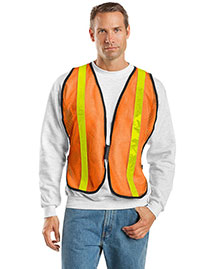 Port Authority SV02 Mens Mesh Safety Work Vest at bigntallapparel