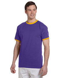 Champion T1396 Men  6.1 Oz. Tagless Ringer T-Shirt