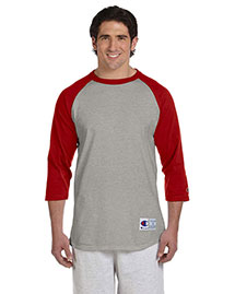 Champion T1397 Men  6.1 Oz. Tagless Raglan Baseball T-Shirt