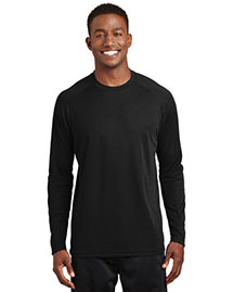 Sport-Tek T473LS Mens Dry Zone Long Sleeve Raglan T Shirt at bigntallapparel