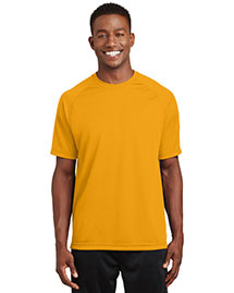 Sport-Tek T473 Mens Raglan Sleeve T Shirt With Wicking And Antimicrobial Treatments at bigntallapparel