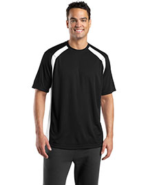 Sport-Tek T478 Mens Dry Zone Colorblock Crew at bigntallapparel