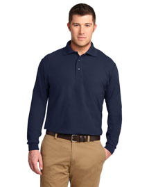 Port Authority TLK500LS Men Tall Silk Touch? Long Sleeve Polo
