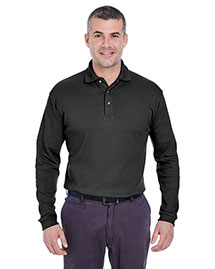 Ultraclub 8501 Men Egyptian Interlock Longsleeve Polo