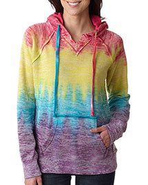 Weatherproof W1162 Ladies' Courtney Burnout Hooded Pullover Blend Fleece at bigntallapparel