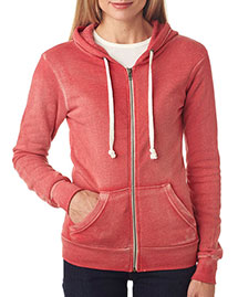 Weatherproof W2350 Ladies' Blended Angel Sanded Hooded Fleece at bigntallapparel