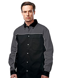 Tri-Mountain W908LS  60% Cotton 40% Polyester Twill Woven Long Sleeve Shirt