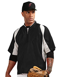 Tri-Mountain J2108 Men 100% Polyester S/S 1/4 Zip Baseball Warmup Shirt