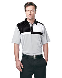 Tri-Mountain K109 Men 100% Polyester Knit S/S Golf Shirt