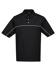 Tri-Mountain K908 Men's 100%  Polyester Color Blocking Polo Shirt at bigntallapparel