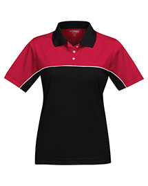 Tri-Mountain KL908 Women's 100% Polyester Color Blocking Polo Shirt at bigntallapparel