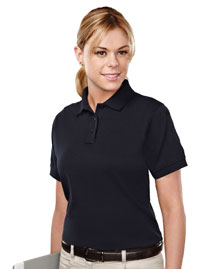 Tri-Mountain 011 Womens Cotton/Poly 60/40 Knit Polo Shirt, W/ Mic Loops & Pen Pocket at bigntallapparel
