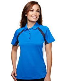 Tri-Mountain 016 Women's 100% Polyester Knit Polo Shirts at bigntallapparel
