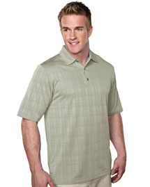 Mens 100% Polyester Jacquard Knit Polo Shirts.