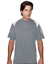 Tri-Mountain 028 Men's 100% Polyester Knit Crew Neck Tee at bigntallapparel